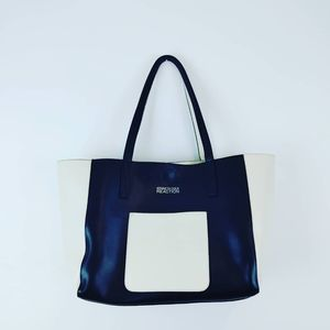 KENNETH COLE REACTION |creamy white and Black Tote